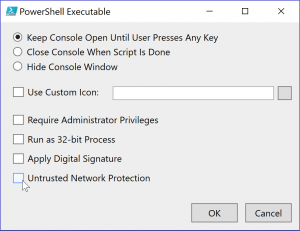 Create an  exe from your PowerShell script with ISESteroids