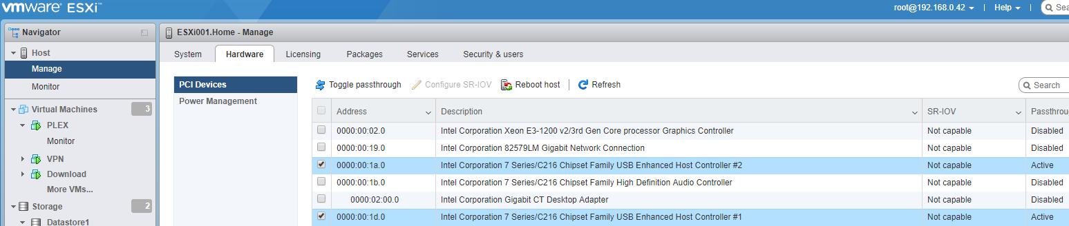 Configure USB 3 0 Passthrough in an ESXi 6 7 Host